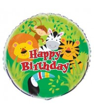 Animal Jungle Round Foil Balloon 18""