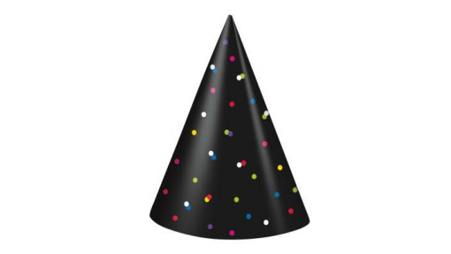 Neon Dots New Years Party Hats, ...