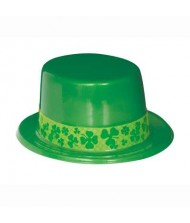 Bulk Shamrock Plastic Top Hat with ...