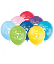 Assorted Color 7th Birthday Latex Balloons, ...