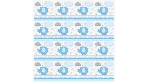 Blue Elephants and Umbrella Gift Wrapping ...