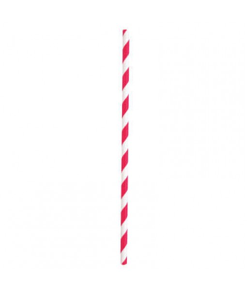 Assorted Paper Smoothie Straws - 10 Pcs