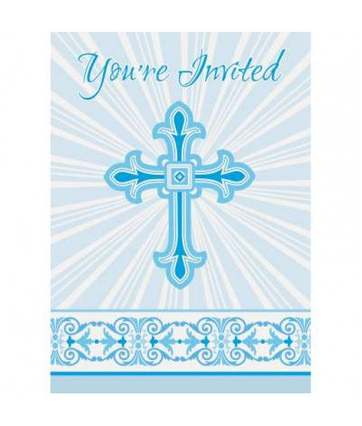 Radiant Cross Party Invitation Cards, 1 Pack