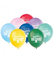 Assorted Color Birthday Latex Balloons, 8 ...