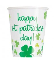 Rainbow Shamrock Paper Party Cups, 8 ...