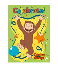 Curious George Party Invitations, 8 Ct.
