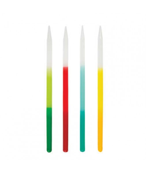 "Assorted Color Ombre Candles 5"", 12ct"