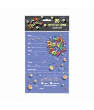 Birthday Marbles Flat Invitations, Party Accessory, ...