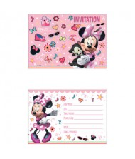 Disney Iconic Minnie Mouse Party Invitations, ...