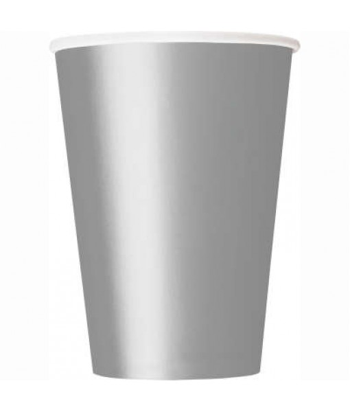 Silver Disposable Paper Cups, 9 oz, 14 Ct.