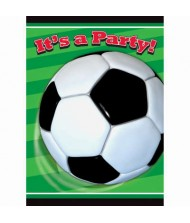 3D Soccer Party Invitations, 8 Ct.