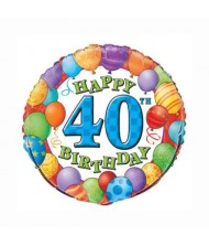 40th Birthday Foil Party Balloon 18""