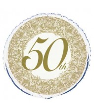 50th Anniversary Foil Party Balloon 18""