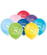 Assorted Color 8th Birthday Latex Balloons, ...