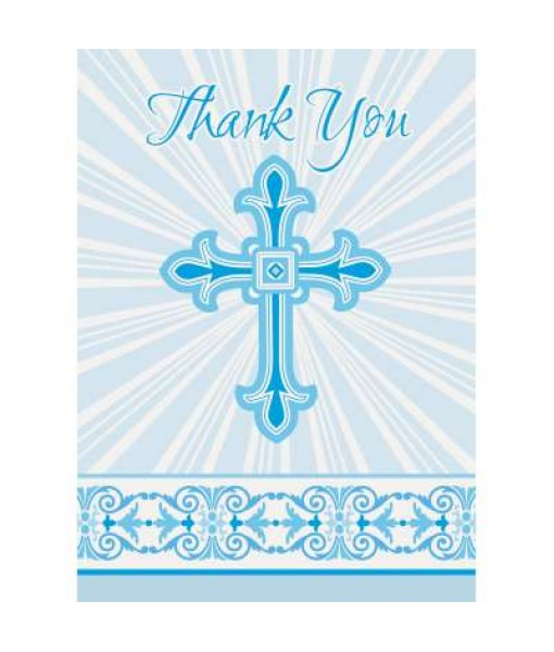 Radiant Cross Party Thank You Note Cards, 1 Pack