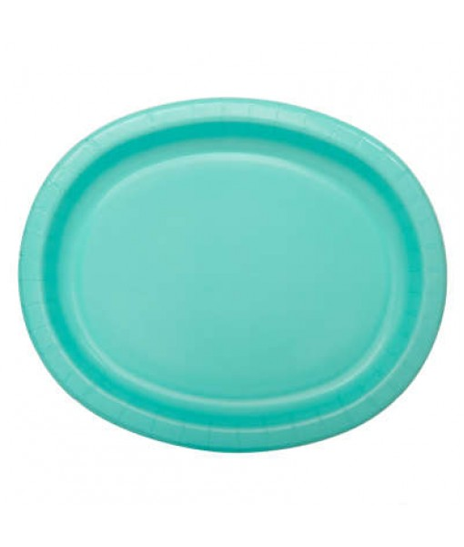 Assorted Solid Oval Platters - 10 Pcs