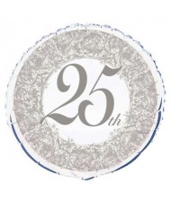 25th Anniversary Round Foil Party Balloon ...