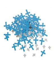Blue Radiant Cross Foil Confetti