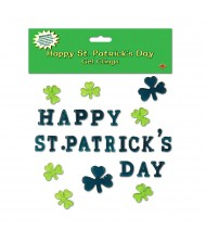 Happy St Patrick's Day Gel Clings ...