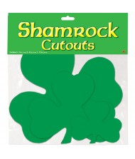 St. Patrick's Assorted Shamrock Paper Cutouts ...