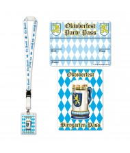 Blue Oktoberfest Party Pass With Lanyard ...