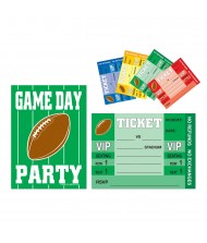 Assorted Color Football Game Day Invitations- ...