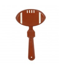 Brown Football Design And Shaped Clapper