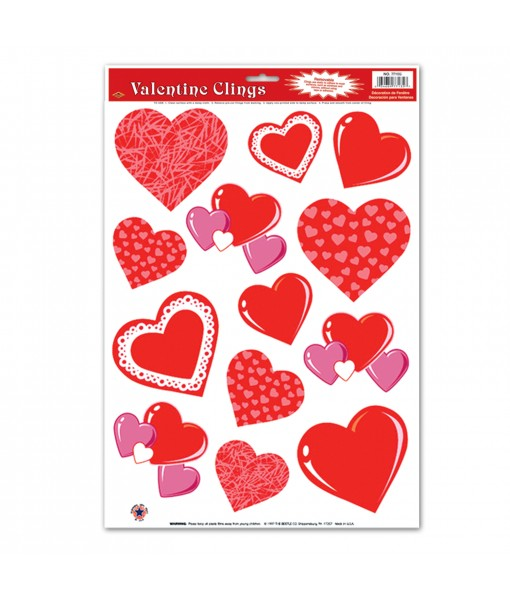 Valentine's Heart Clings-...
