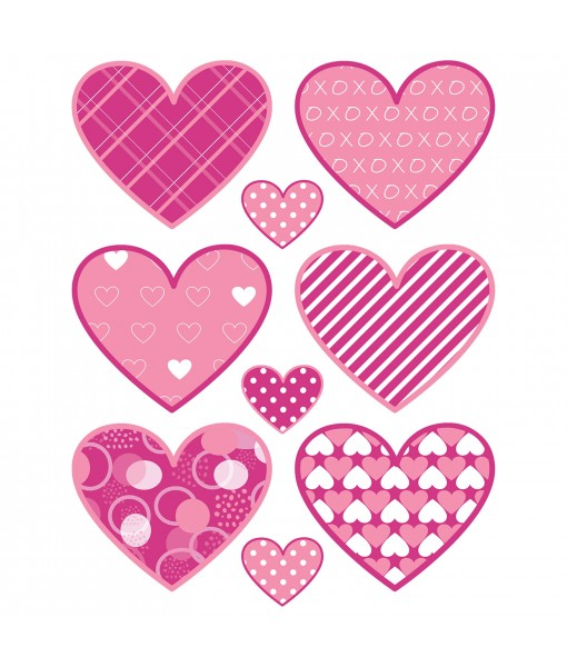 Assorted Pink Heart Cling...
