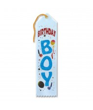 """Birthday Boy"" Fabric Award Ribbon - ..."