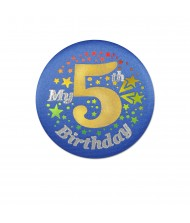 """My 5th Birthday"" Button- 1 pc."