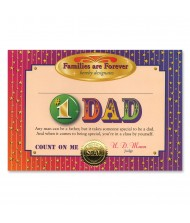 #1 Dad Certificate Greeting - 1pc