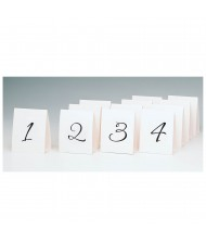 1-12 Plain Cardstock Table Number Tent ...
