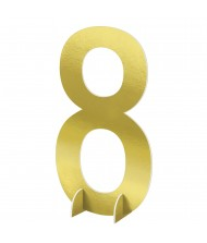 """""""#8"""" Gold Standing Sign - 1 ..."""