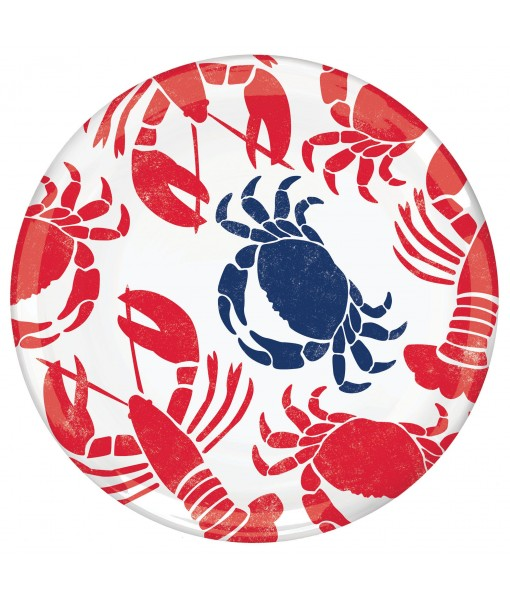 Crab and Lobster Pattern Plastic Platter ...