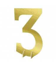 """""""#3"""" Gold Standing Sign - 1 ..."""