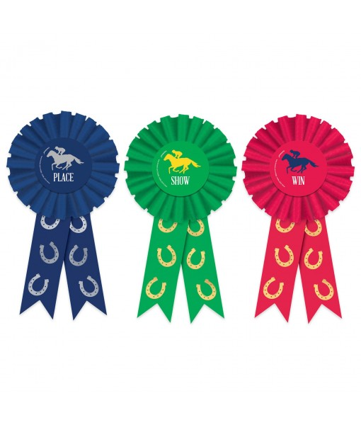 Derby Novelty Show Ribbons - 3 pcs