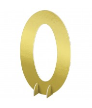 """""""#0"""" Gold Standing Sign - 1 ..."""
