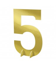 """""""#5"""" Gold Standing Sign - 1 ..."""