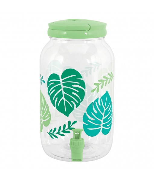 Clear Summer Leaf Drink Dispenser - 1gal