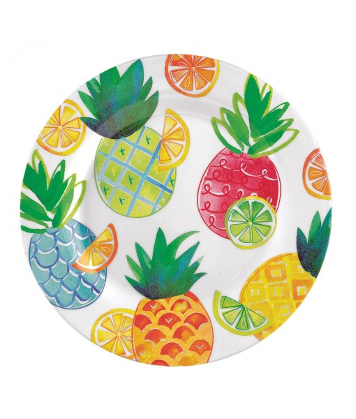 Summer Citrus Plastic Plate - 1pc / 9""