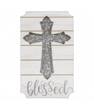 """""""Blessed"""" Silver MDF Standing Easel Sign ..."""