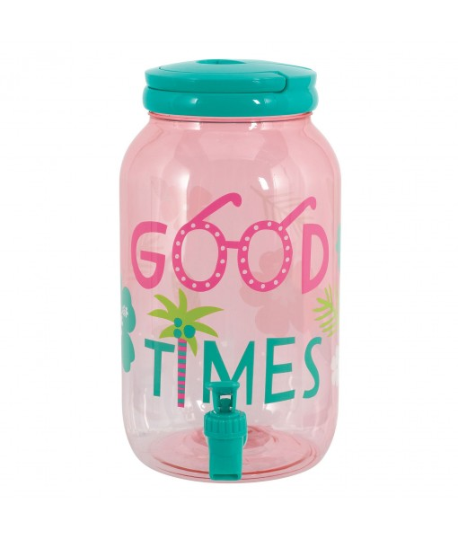 Pink Transluscent Summer Drink Dispenser - 1gal