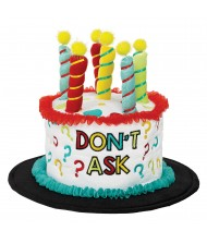 """""""Don't Ask"""" Cake Hat- 1 pc."""