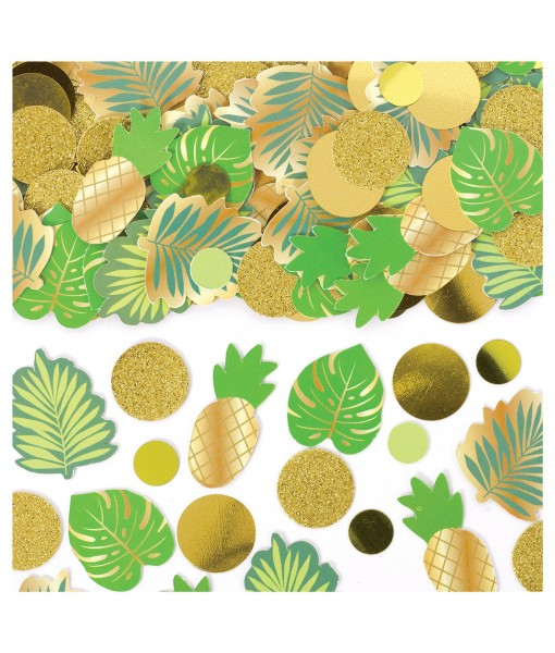 Tropical Leaves Mixed Confetti