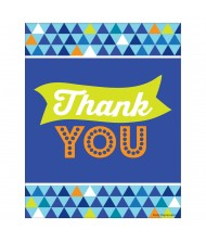 Blue Pattern Printed Thank You Cards ...