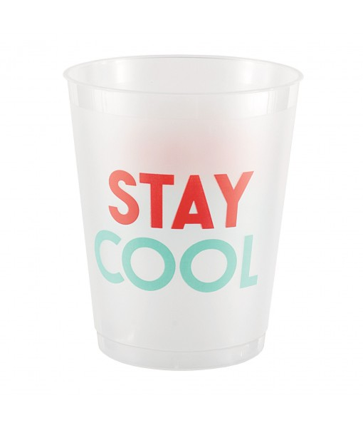 Stay Cool Frosted Tumblers - 8 pcs