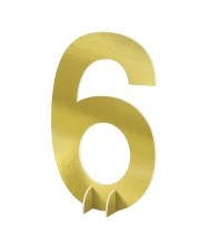 """""""#6"""" Gold Standing Sign - 1 ..."""