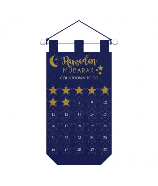 Countdown to Eid Hanging Felt Banner - 1 pc
