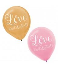 Always & Forever Love Latex Balloons ...